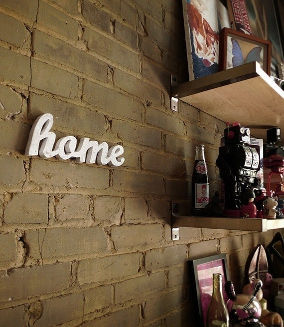 HOME recycled wooden sign