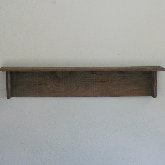 Rustic Barnwood Wall Shelf 36 Inch
