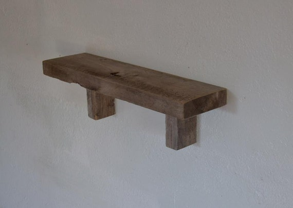 Reclaimed Wood Wall Shelf Barnwood 20 Inches Wide By