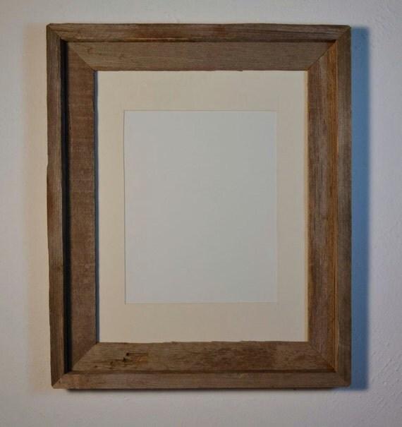 Barnwood frame 11x14 with an  8x10 cream white mat  beautiful gray patina
