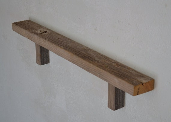 Reclaimed Wood Wall Shelf 32 Inches Long 3 Inches Deep