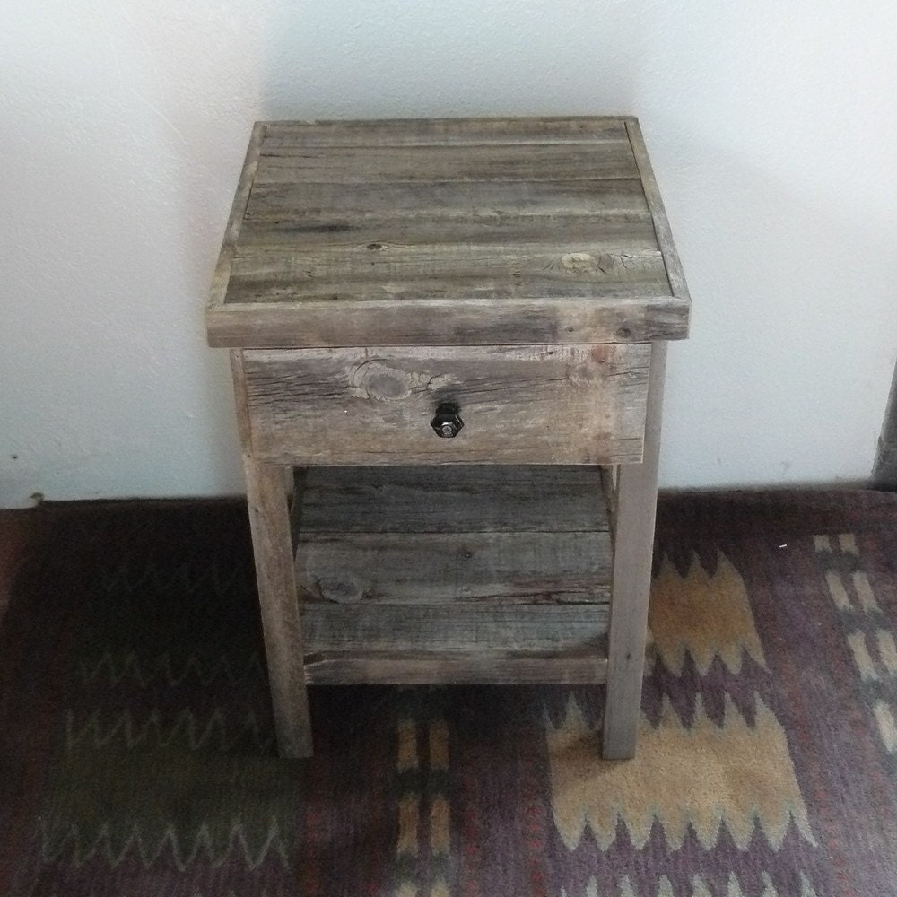 Barnwood Furniture End Table Nightstand With Drawer