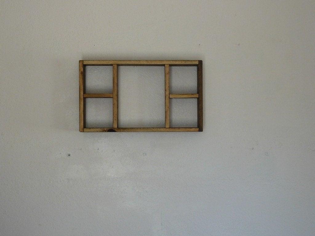 Rustic Wood Shadow Box Shelf Reclaimed Pine