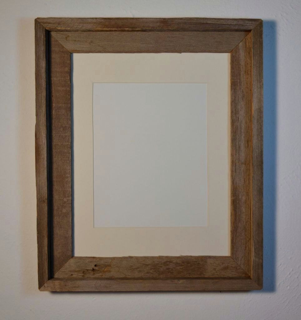 Barnwood Frame 11x14 With An 8x10 Cream White Mat By
