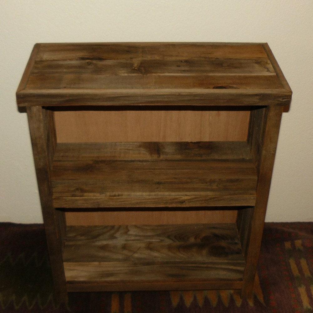 Barnwood Furniture Bookcase Or Primitive Display Shelf