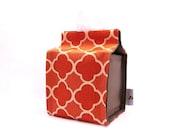 LAST ONE - Polopolo Small Tissue Box Cover - Flower Orange