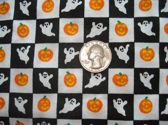Halloween ghost and pumpkin knit fabric 1 YD