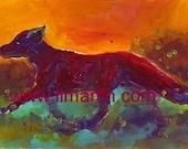 Garnet Fox Painting Originial LLMartin