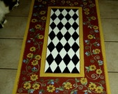FLOORCLOTH    French Country Primitive  hand crafted rug