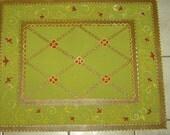 FLOORCLOTH  hand painted canvas rug  FLOOR CLOTH