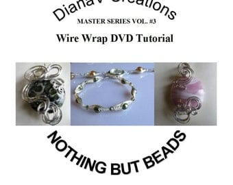 Wire Wrap Beads and The Herringbone instructions as well, jewelry making DVD tutorial, volume three