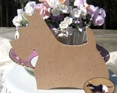Llittle Scottie Dog Scotty MDF Wood CUT OUT Unfinished and ready to be altered