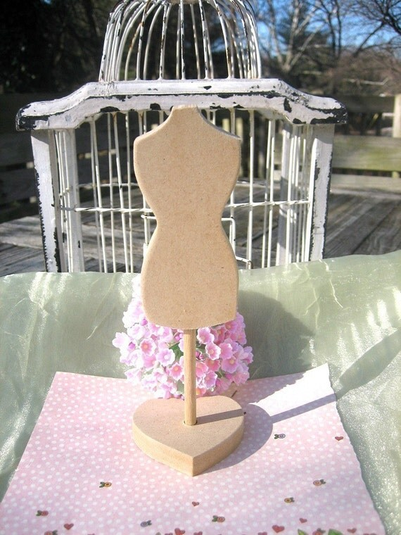 Dress Form Wooden Mannequin with Stand Unfinished Wood with tutorial Buy 3 Get one FREE