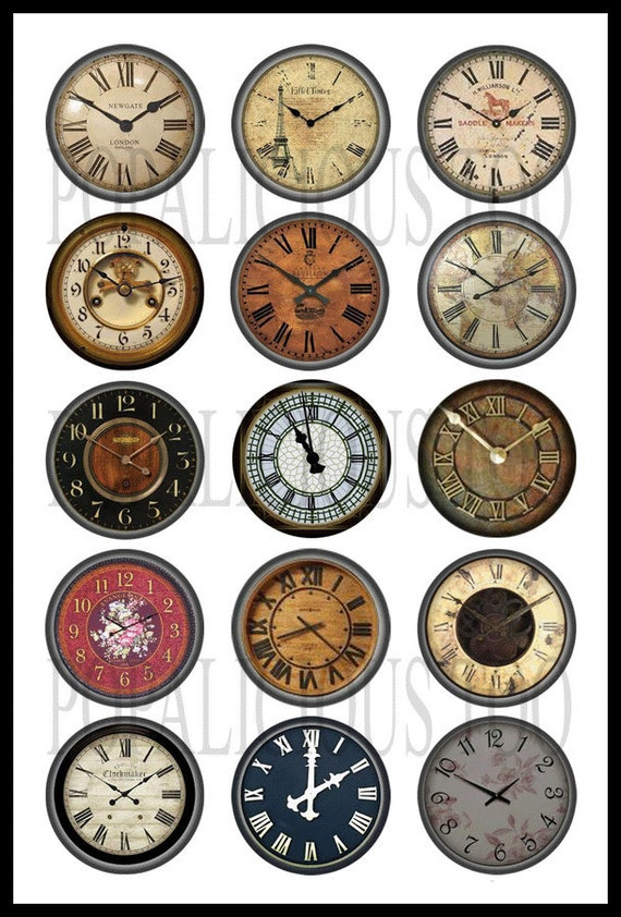 Farewell 2013 - HELLO 2014! Vintage Clock Face Printable ...