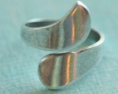 Adjustable Silver Bypass Ring Finding 2076