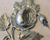 Cabbage Rose Silver Finding 121