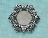Silver Floral Frame Bezel 2542