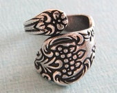 Floral Silver Spoon Ring Finding 2460