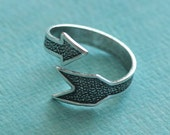 Adjustable Silver Arrow Ring Finding 2704