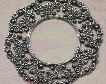 Ornate Round Silver Frame 1855