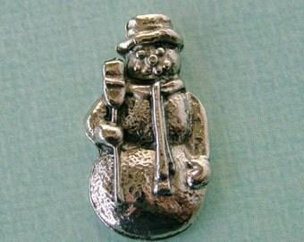 SALE 6 Pewter Snowman Findings 1006