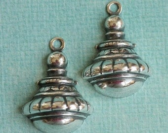 2  Silver Drop Charms 1898