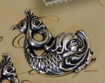 2 Silver Koi Findings 1401