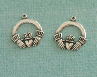 2 Large Silver Celtic Charms 2533L