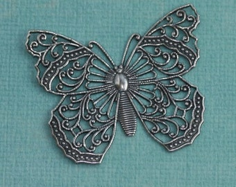 Silver Filigree Butterfly Finding 1191