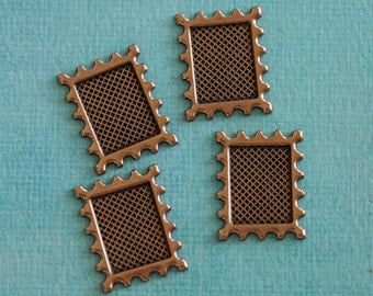 4 Copper Postage Frame Findings 2708
