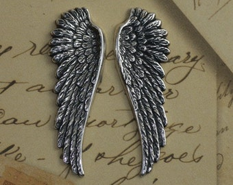 Silver Angel Wing Findings 1425