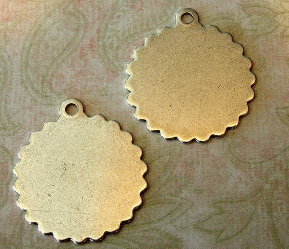 2 Silver Scalloped Disks 191