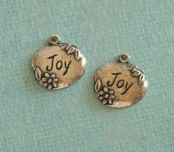 LAST ONE 2 Pewter Joy Charms 2243