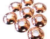 Copper large holed bead caps