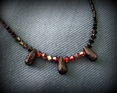 Black, Burgundy and Starry Night Necklace