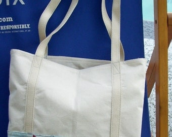 Cotton Tote Bag - Upcycle Recycle