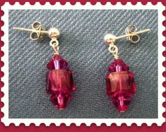 Red Hot Crystal Earrings