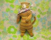Sunflower, the yellow tabby cat