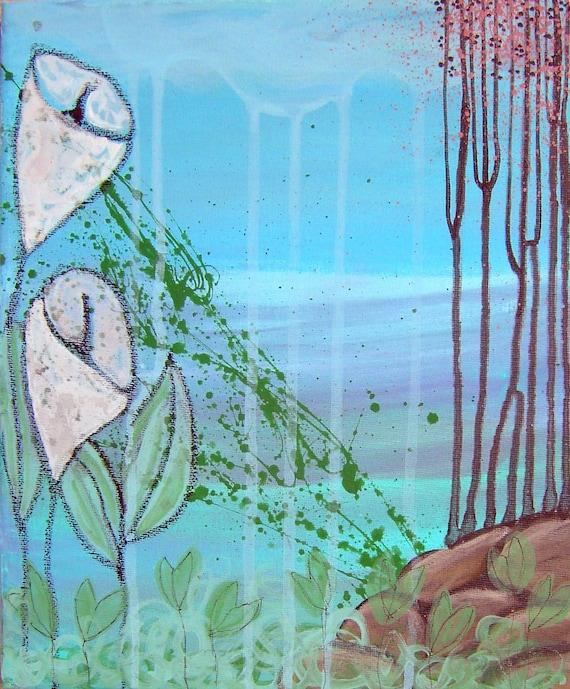 SALE---When it rains (Original Painting) 25x30cm