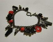 Vampire love -charm bracelet