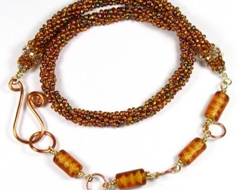 Amber Gold Necklace