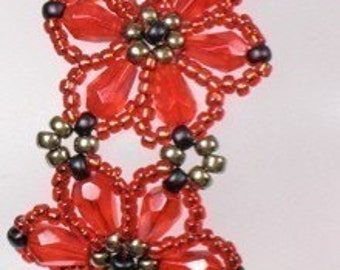 INSTRUCTIONS --  Flower Bracelet -- PDF Dwnload
