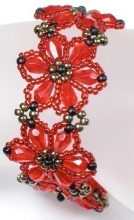 INSTRUCTIONS --  Flower Bracelet -- PDF Dwnload