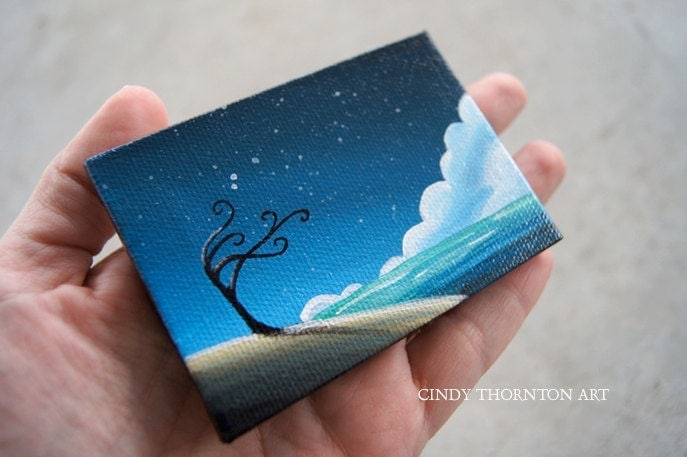 Cindy thornton original mini painting on canvas for Things to do with mini canvases