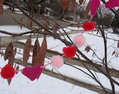 Reserved for 702mamamarsh Tiny Pom Pom Heart Garland 8ft long