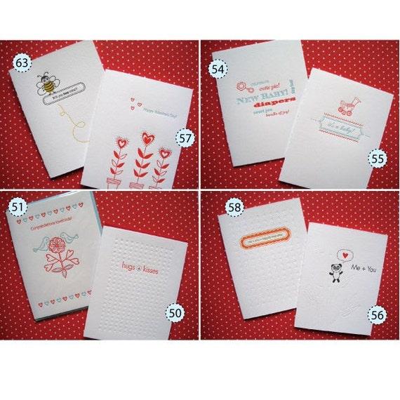 Letterpress - Pick Any Six Cards