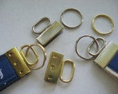 50 Count Oval Top Nickel Key Fob Hardware Sets