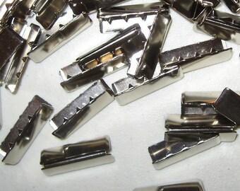 """Nickel Belt Tips 1.25"""" 50 Pieces"""