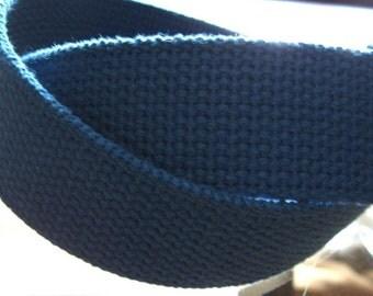 "Cotton Webbing 1 1/4"" Royal Blue For Handbags Totes Key Fob Wristlets Belting Strap"