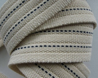 Heavy Natural Cotton Webbing With Rib And Pinstripe NEW PRICE